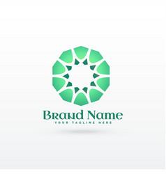 Islamic pattern shape logo design concept vector