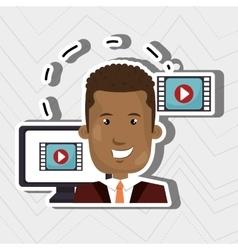 social media marketing design vector image
