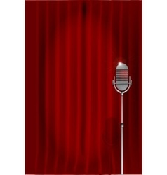 Stand Up Night Curtain vector image