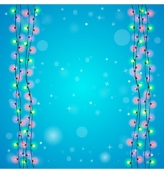Blue holiday background vector image vector image