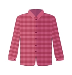Checkered Red Shirt Flat Style vector image