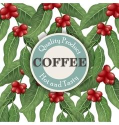 Coffee tree Coffee design template vector image