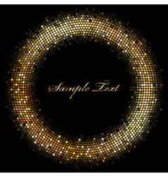 Frame with gold sparkles vector