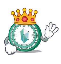 king kyber network mascot cartoon vector image vector image