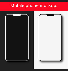 mobile phone mockup set vector image