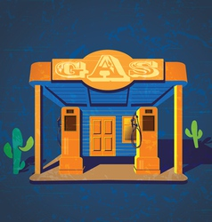 old gas stations vector image vector image