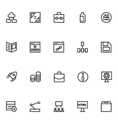 Productivity and Development Icons 4 vector image vector image