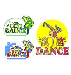 Dancing abstraction vector image vector image