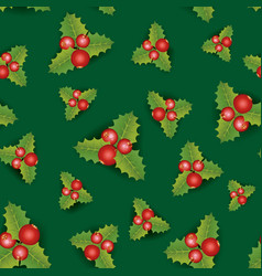 floral seamless background christmas pattern with vector image
