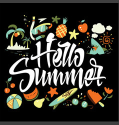 hello summer to print t-shirts vector image