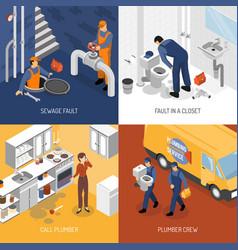 plumbing service design concept vector image vector image