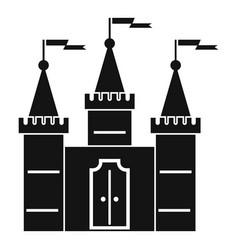 Castle icon simple style vector