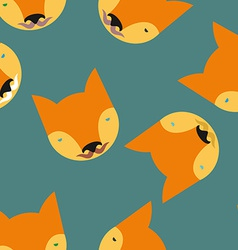 Fox Seamless pattern Animals background vector image vector image