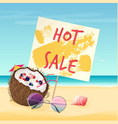 hot sale text on sign on vector image vector image