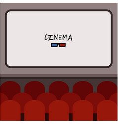 interior cinema hall with rows of vector image vector image