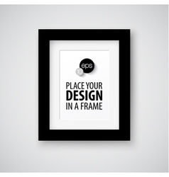Modern photo frame vector image