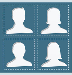 people profile silhouettes women and men vector image vector image