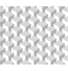 Seamless 3d geometrical pattern of cube columns vector