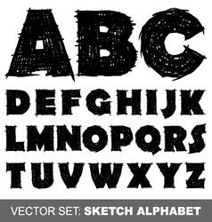 sketch alfabet vector image vector image