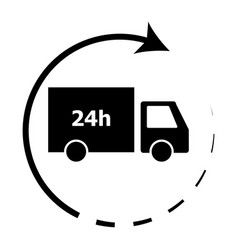 24-hour delivery icon vector
