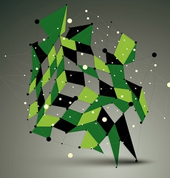 3D mesh contemporary technology abstract object vector