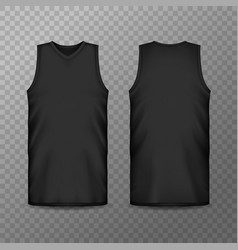 3d or realistic blank sport clothing for men vector image