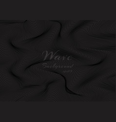 Abstract black wave lines pattern on dark vector