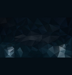 abstract irregular polygonal background blue black vector image