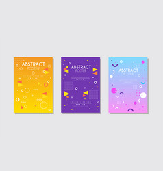 abstract poster design set bright creative cover vector image