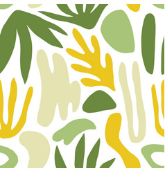 Abstract seamless pattern with green shapes or vector