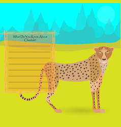 african cheetah vector image