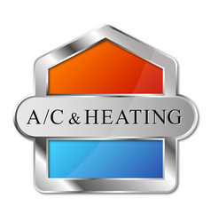 Air conditioning heating and cooling design vector