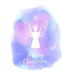 Angel Merry Christmas Abstract background vector
