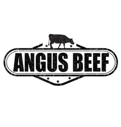 angus beef stamp vector image