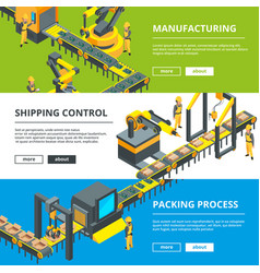Automated industry line manufacturing production vector