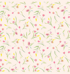 beautiful seamless pattern with watercolor gentle vector image