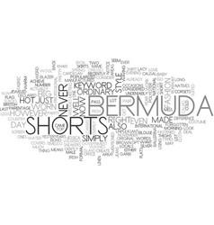 Bermuda shorts text word cloud concept vector