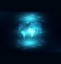 best internet concept of global business globe vector image