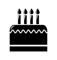 birthday cake isolated icon design vector image