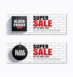 black friday super sale shopping tag cover and vector image
