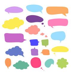 blank empty speech bubbles design for vector image
