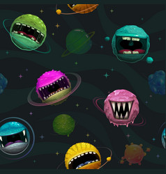 cartoon background seamless pattern with scary vector image