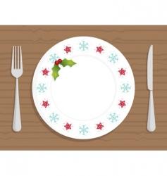Christmas plate vector image