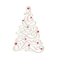 Christmas scandinavian greeting card with vector