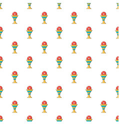 Church goblet glyph pattern seamless vector