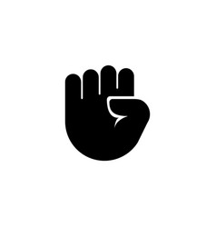 Clenched raised fist victory strength power flat vector