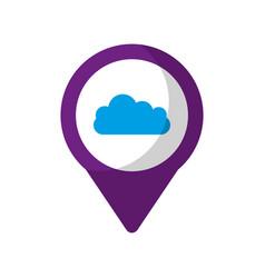 Cloud social media round pointer we vector