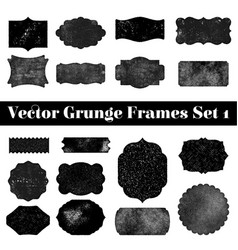 collection retro grunge shapes vintage postal vector image