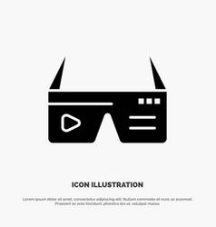 Computer computing digital glasses google solid vector