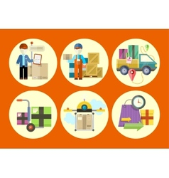 Concept of services in delivery goods vector